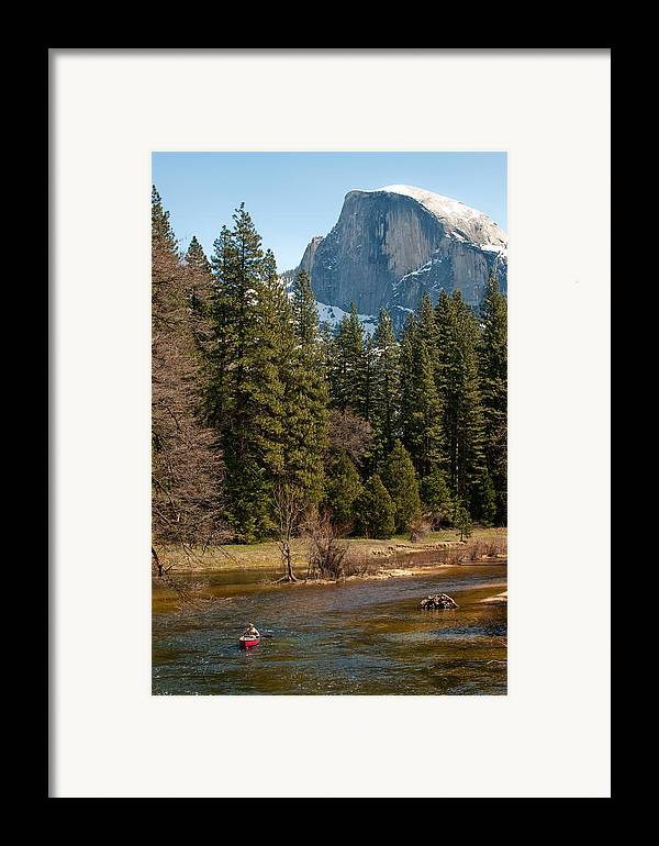 Yosemite Framed Print featuring the photograph Half Dome Yosemite by Tom Dowd