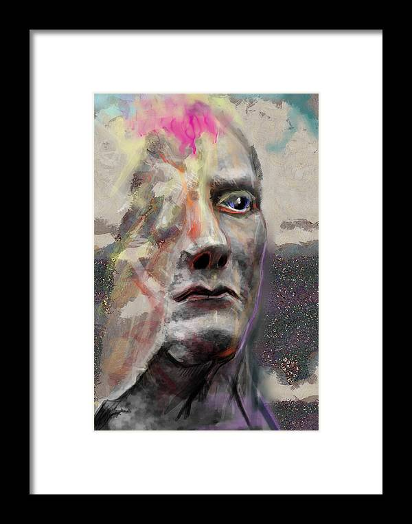 Abstract Framed Print featuring the digital art Half Mind/half Blind by Scott Smith