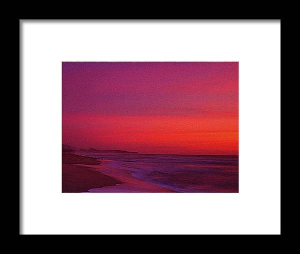 Half Moon Bay Framed Print featuring the photograph Half Moon Bay Sunset by Vicky Brago-Mitchell