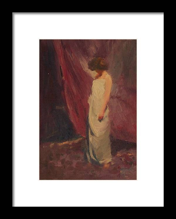 Woman Framed Print featuring the painting Halkag SOLD by Irena Jablonski