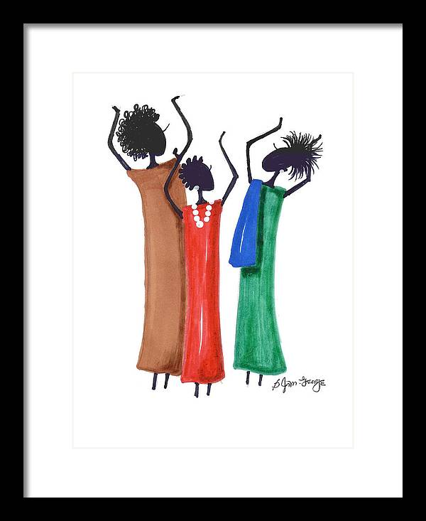 Drawing Framed Print featuring the drawing Hallelujah by Bee Jay