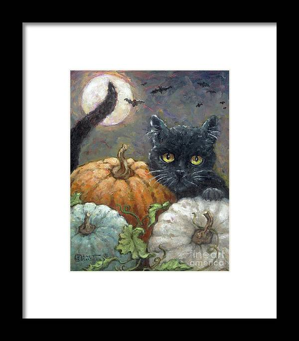 Americana Framed Print featuring the painting Halloweeen I by Janet Kruskamp