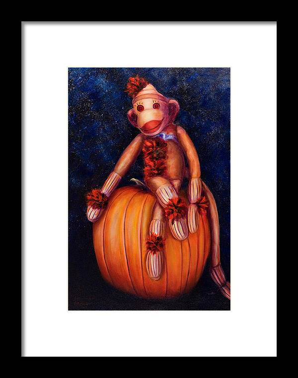 Pumpkin Framed Print featuring the painting Halloween by Shannon Grissom