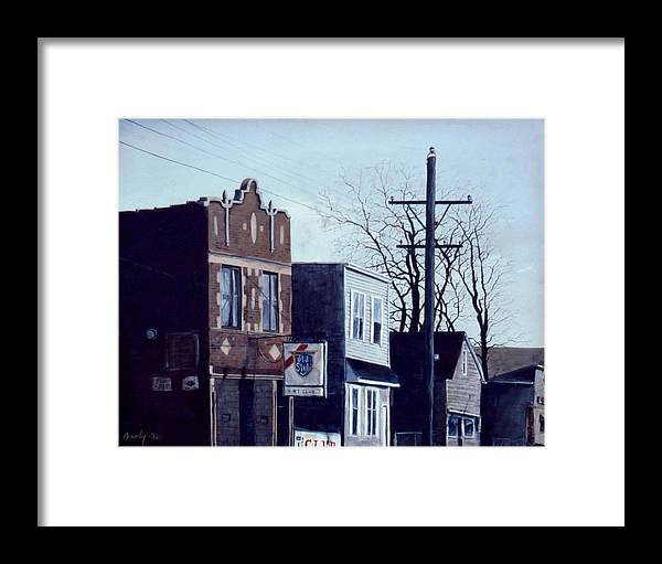 Urban Framed Print featuring the painting Halsted by William Brody