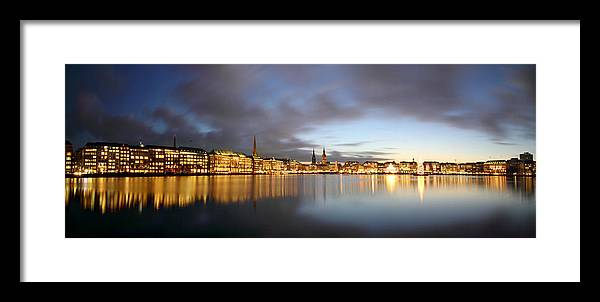 Hamburg Framed Print featuring the photograph Hamburg Alster Christmas Time by Marc Huebner