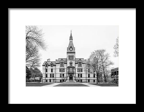 Hamline University Framed Print featuring the photograph Hamline University Old Main by University Icons