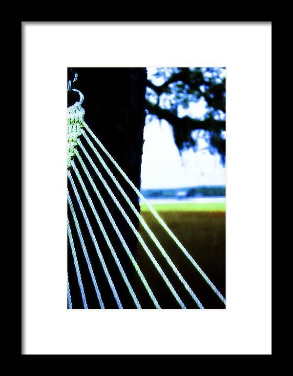 Coastal Framed Print featuring the photograph Hammock Time by Jill Tennison