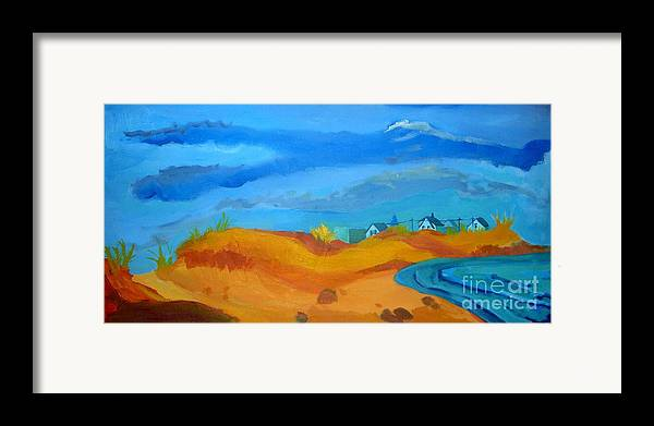 Ocean Framed Print featuring the painting Hampton Dunes by Debra Bretton Robinson