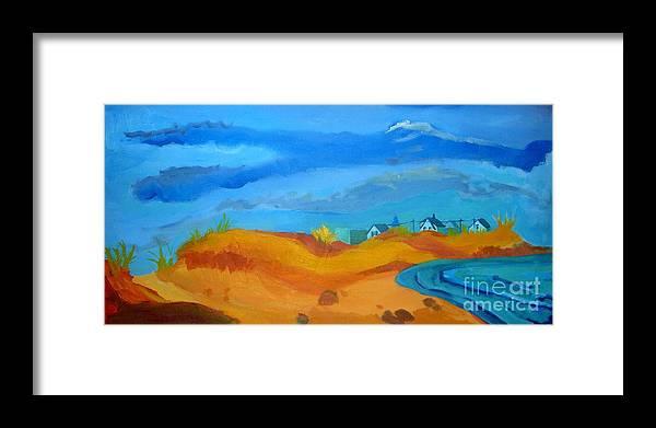 Ocean Framed Print featuring the painting Hampton Dunes by Debra Bretton Robinson