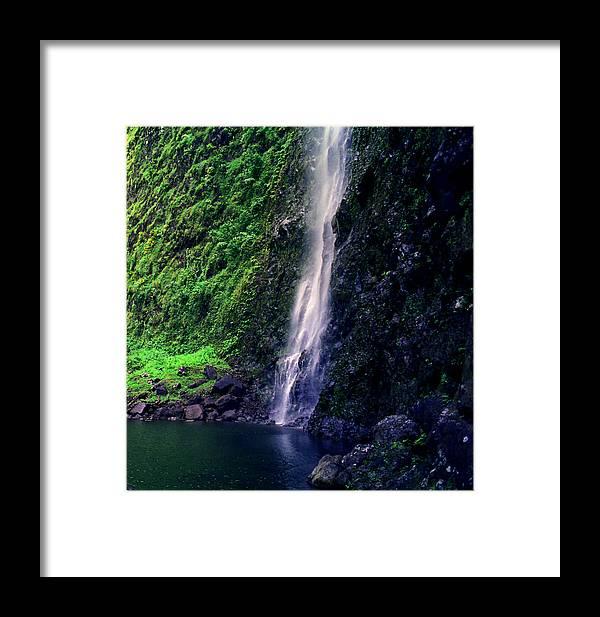 Na Pali Coast Framed Print featuring the photograph Hanakoa Falls by Kevin Smith