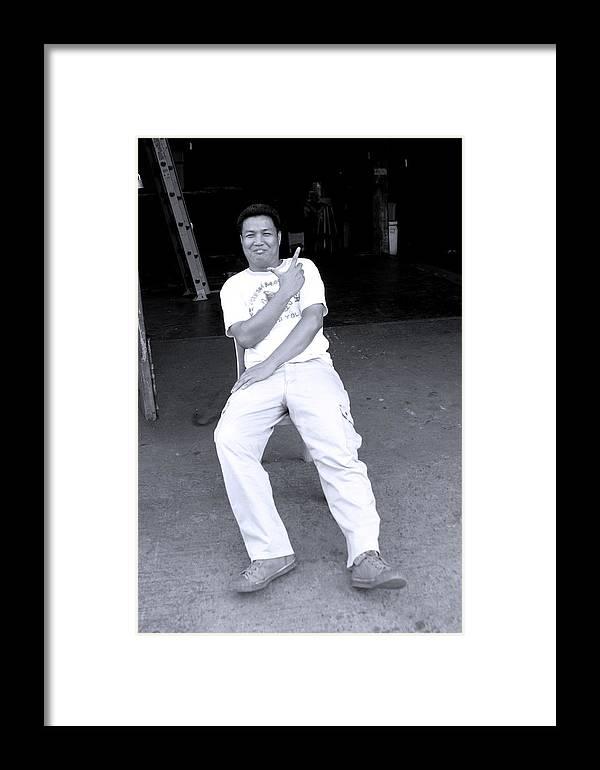 Jez C Self Framed Print featuring the photograph Hand Gun by Jez C Self