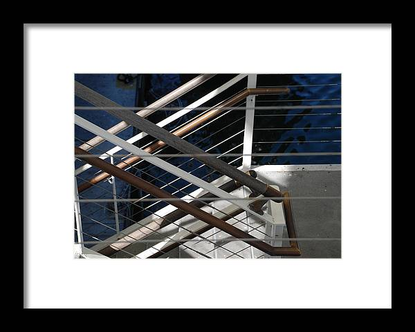 Water Framed Print featuring the photograph Hand Rails by Rob Hans