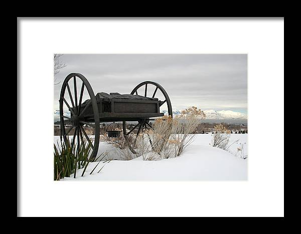 Handcart Framed Print featuring the photograph Handcart Monument by Margie Wildblood