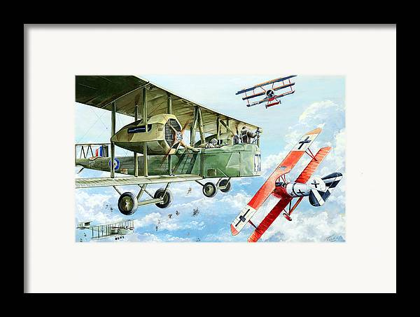 Bomber Framed Print featuring the painting Handley Page 400 by Charles Taylor