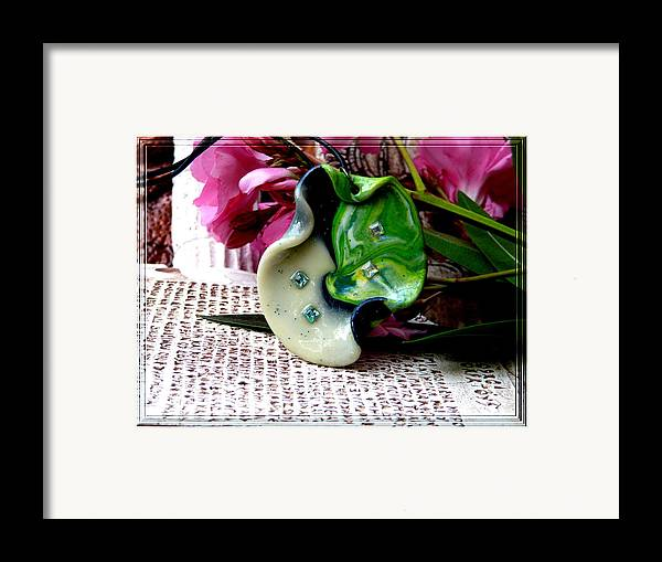 Jewel Framed Print featuring the photograph Handmade Art In Nature by Chara Giakoumaki