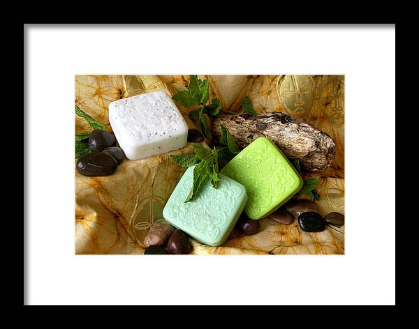 Handmade Soaps Framed Print featuring the photograph Handmade Soap by Sonja Anderson