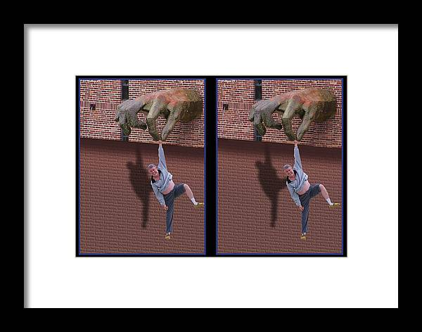 3d Framed Print featuring the photograph Handout - Gently Cross Your Eyes And Focus On The Middle Image by Brian Wallace