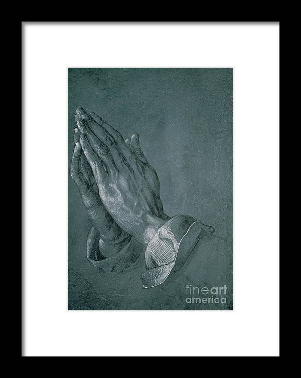 Hands Of An Apostle Framed Print featuring the drawing Hands Of An Apostle by Albrecht Durer