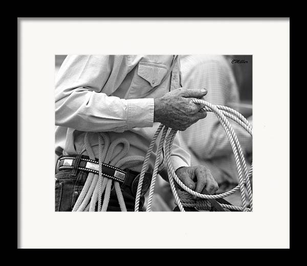Rodeo Framed Print featuring the photograph Hands Of Time.. by Carol Miller
