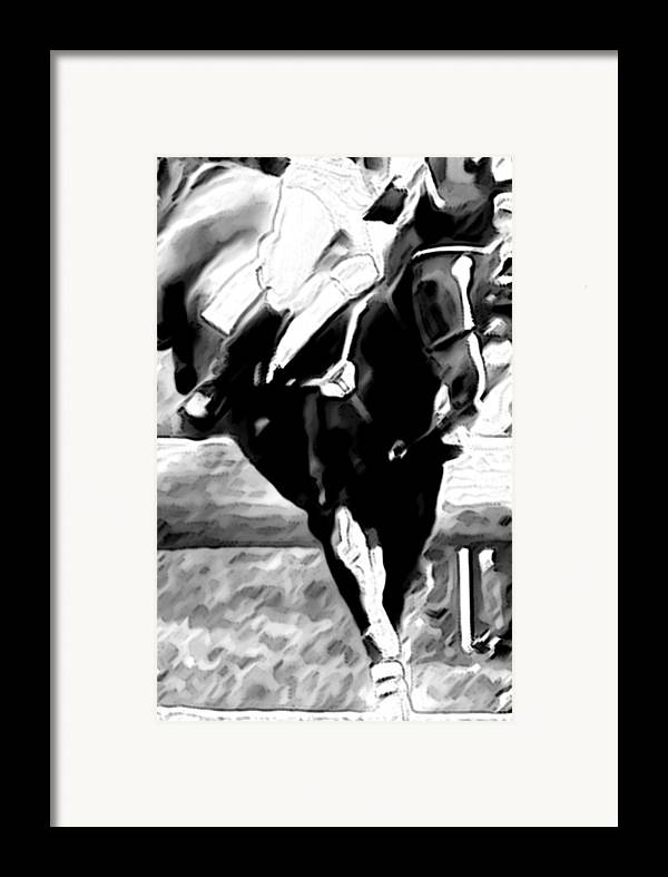 Horse Framed Print featuring the photograph Hang On Tight by Donna Thomas
