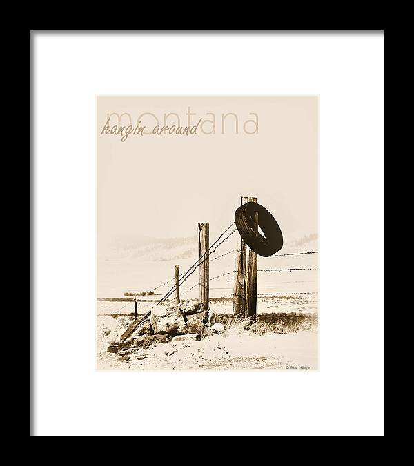 Montana Framed Print featuring the photograph Hangin Around Montana by Susan Kinney