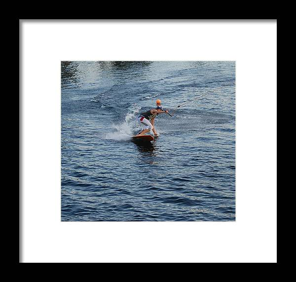 Waves Framed Print featuring the photograph Hanging 15 by Rob Hans