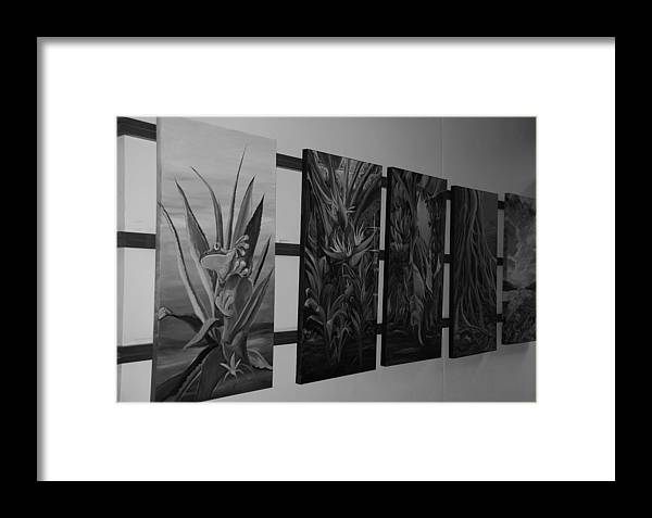 Black And White Framed Print featuring the photograph Hanging Art by Rob Hans