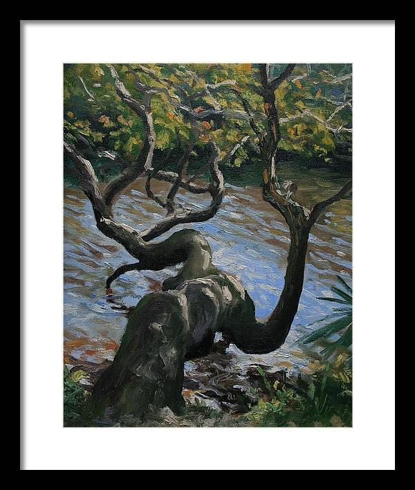 Oil Painting Framed Print featuring the painting Hanging Out by Michael Vires