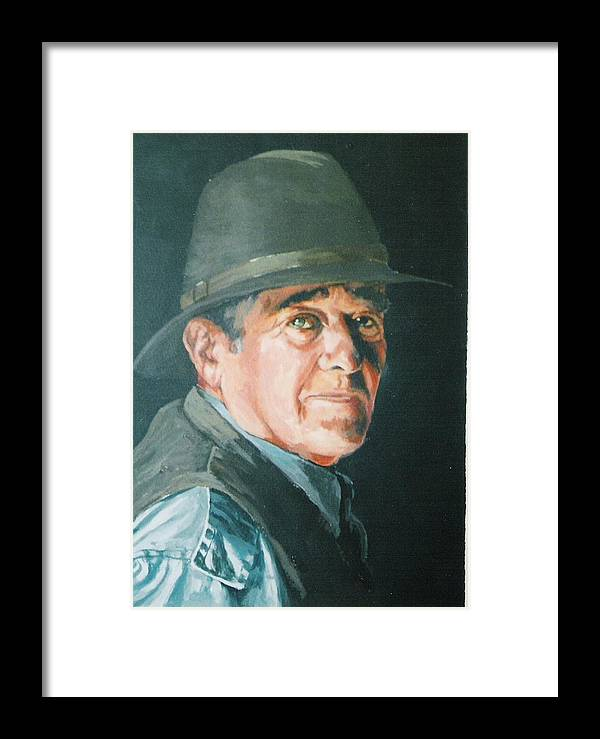 Portrait Of Man. Framed Print featuring the painting Hans by Barry Smith