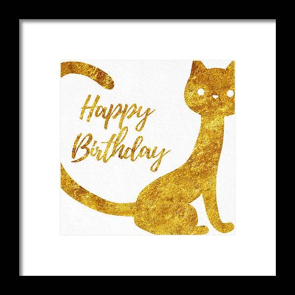 Happy Birthday For Cat Lovers Framed Print