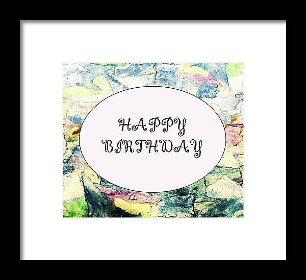 Happy Birthday Framed Print By Mary Ellen Frazee