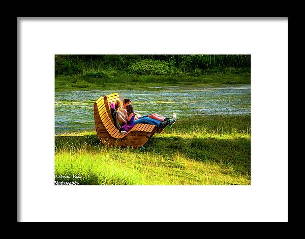 Switzerland Framed Print featuring the photograph Young Family Enjoying The Swiss Country Side by Jason Yoon