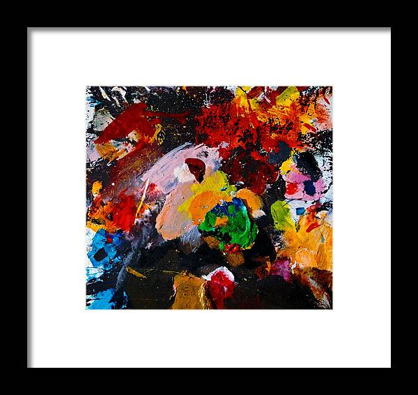 Abstract Framed Print featuring the painting Happy Harmony by Natalie Holland