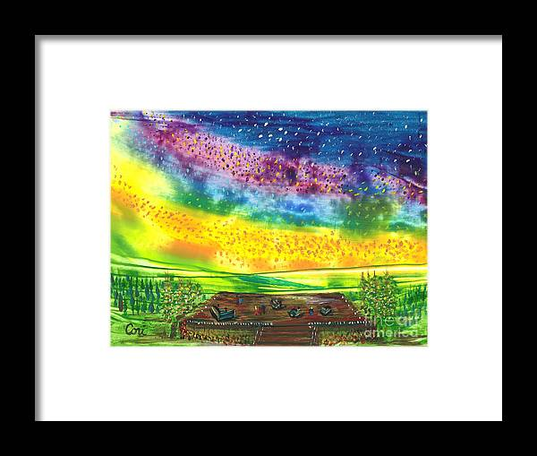 What Get For Framed Print featuring the painting Happy Hour by Corinne Carroll