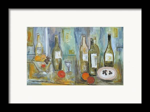 Abstract Framed Print featuring the painting Happy Hour II by Trish Toro