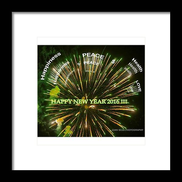 Miamiphotographer Framed Print featuring the photograph Happy New Year 2016 #juansilvaphotos by Juan Silva