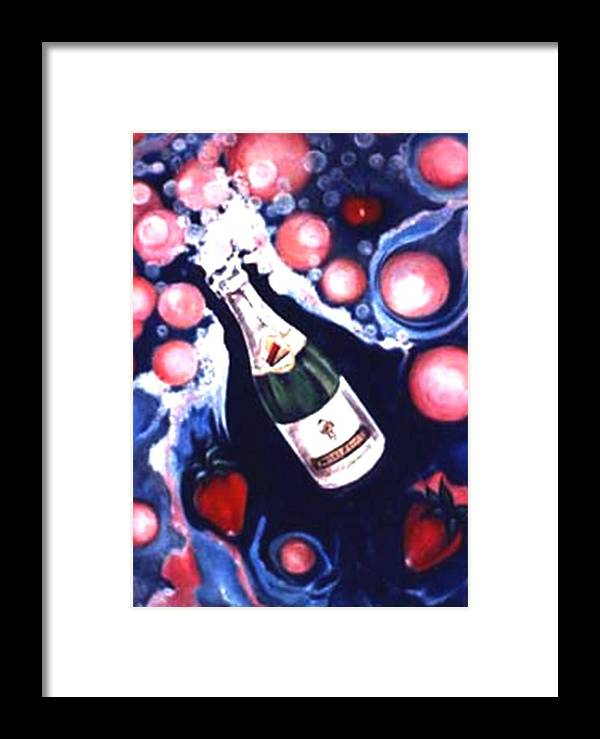 New Year Art Work Framed Print featuring the painting Happy New Year by Jordana Sands