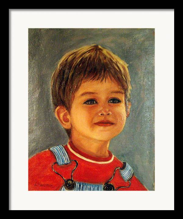 Children Framed Print featuring the painting Happy Times by Lia Marsman