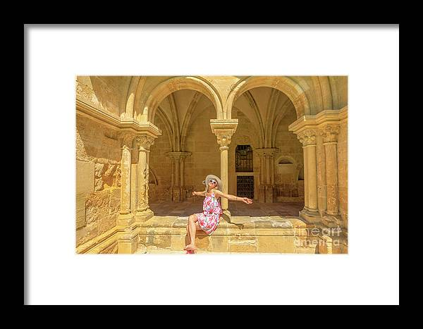 Coimbra Framed Print featuring the photograph Happy Tourist Visits Coimbra by Benny Marty