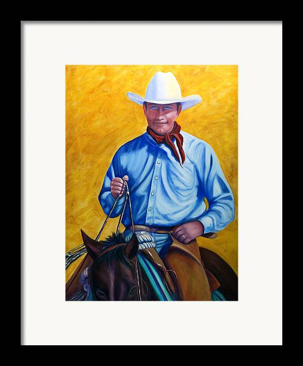 Cowboy Framed Print featuring the painting Happy Trails by Shannon Grissom
