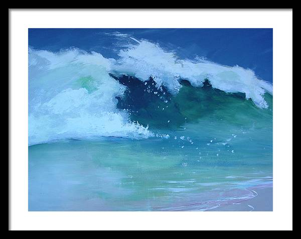 Surf Framed Print featuring the painting Hapuna Beach Shore Stack by Paul Miller