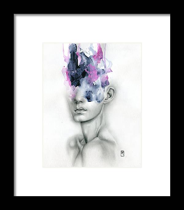 Portrait Framed Print featuring the painting Harbinger by Patricia Ariel