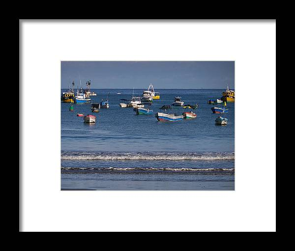 Water Framed Print featuring the photograph Harbor Of San Juan Del Sur by William Patterson