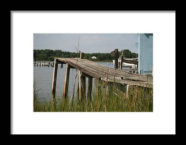 Dock Framed Print featuring the photograph Harborton Dock by Karen Fowler