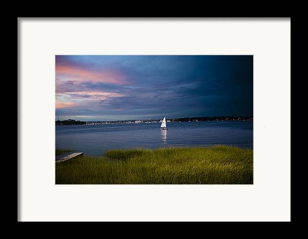 Ocean Framed Print featuring the photograph Harborview Sunset by Joshua Francia