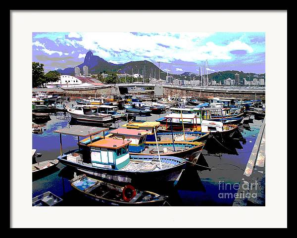 Boats Boat Framed Print featuring the photograph Harbour 01 by Carlos Alvim