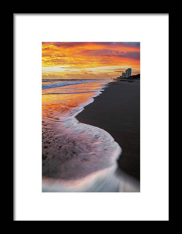 Morning Framed Print featuring the photograph Harbour Skies by Andrew Vernon