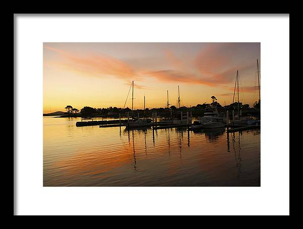 Sunset Framed Print featuring the photograph Harbour Sun Set by Kathryn Potempski