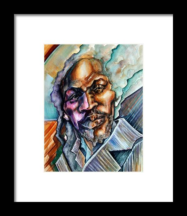 Reggae Framed Print featuring the painting Hard-edged Sound by Robert Nelson