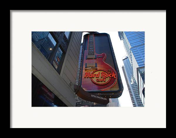 Music Framed Print featuring the photograph Hard Rock Cafe N Y C by Rob Hans